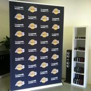Lakers Press Wall