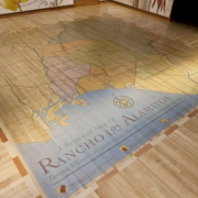 Hand painted floor at Rancho Los Alamitos