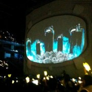 TRIO drop being projected on at Big Bang pre-show in Manila
