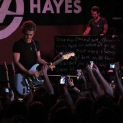 TRIO printed backdrop in Portland with Hunter Hayes