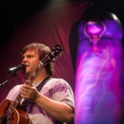 Jack Black of Tenacious D with custom hand-painted inflatable