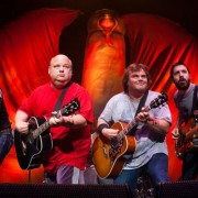 Tenacious D with TRIO hand-painted backdrop and custom inflatable