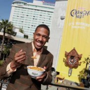 Nick Cannon in front of TRIO fabricated Cuckoo Clock