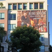 TRIO printed 'Blake Shelton' srim on The Pinnacle building in Burbank