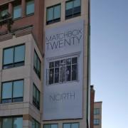 TRIO printed 'Matchbox Twenty' scrim on The Pinnacle building in Burbank