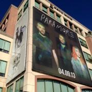 TRIO printed 'Paramore' scrim on The Pinnacle in Burbank