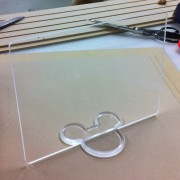 CNC Routed Mickey Sign Holder