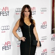 TRIO printed step-and-repeat graphics at AFI Film Festival - Jennifer Love Hewitt