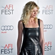 TRIO printed step-and-repeat graphics at AFI Film Festival - Kirsten Dunst