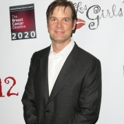 TRIO printed step and repeat with Peter Krause - Les Girls 12