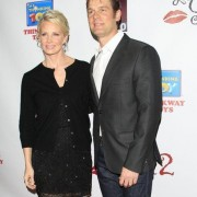 TRIO printed step and repeat with Monica Potter and Peter Krause - Les Girls 12