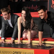 'Twilight' Hand and Footprint Ceremony at the Grauman's Chinese Theatre - TRIO CNC-routed imprint used in the wet cement... hand prints in process!