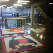 Prepping graphic displays to ship out to JCP - JC Penney