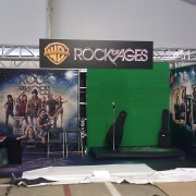 Setting up Outdoor Rock Of Ages for Walmart