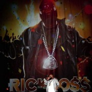 Rick Ross on Tour with Lil Wayne and TRIO printed backdrop