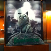 TRIO sculpted and hand-painted Frankenweenie display at Disney's California Adventure