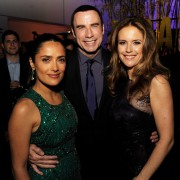 John Travolta, Kelly Preston, and Salma Hayak at Savages after-party