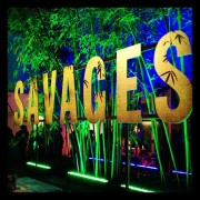 TRIO routed and mounted letters for the Savages premiere after-party