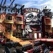 TRIO printed graphics, interior of box lounges, at the spectacular Scream Awards, Universal Studios - pre-show set up