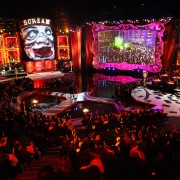 TRIO printed graphics, interior of box lounges, at the spectacular Scream Awards, Universal Studios