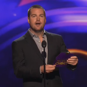 Presenting with TRIO fabricated envelopes for the People's Choice Awards
