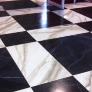TRIO's hand-painted faux marbre flooring for The Voice