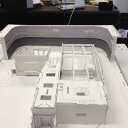 Scaled model for planning the backdrop for TV show Franklin and Bash