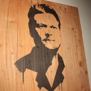 TRIO printed Blake Shelton portrait on plywood - The Voice, Season 3