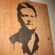 Blake Shelton's portrait printed on plywood for The Voice, Season 3