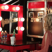 TRIO painted make-up vanities with printed adhesive logo - The Voice, Season 3