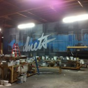 TRIO hand-painted backdrop, flooring for Duets with Kelly Clarkson