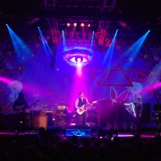 TRIO UV hand-painted backdrop on tour with Steve Vai