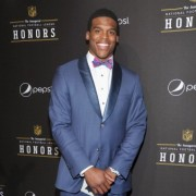 TRIO's printed step and repeat behind Pepsi's Rookie of the Year, Cam Newton
