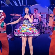 Katy's Cupcake Outfit atop her Custom Flooring