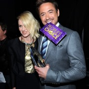 Robert Downey Jr enjoying the TRIO fabricated People's Choice Envelope